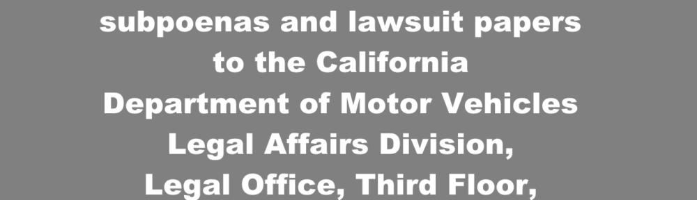 DMV Legal Affairs Division Phone Number